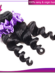 Malaysian Virgin Hair Loose Wave 3 Pcs Lot Color 1B Cheap Malaysian Human Hair Extensions Loose Weave 100g Bundles