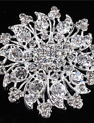 Women's Alloy Brooches & Pins With Rhinestones/Crystal/ Diamond For Bridal Flower