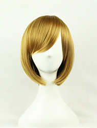 The New Cartoon Color Wig Golden BrownFaceShort Straight Hair Wigs