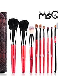 poils msq® 10pcs maquillage sombre ensembles de brosses
