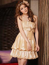 Women's Fashion Strapless Slim Bridesmaid Wedding Party Dress