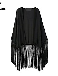 LIVAGIRL®Women's Coat Fashion Sexy Loose Tassels Topwear Europe New Style Summer Casual Sun Protection Outwear