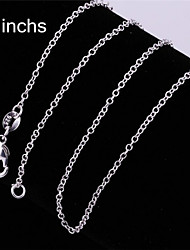 Sterling Silver Necklace Chain Necklaces Party/Daily/Casual 1pc