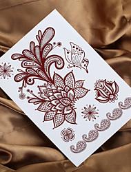 2016 4pcs henné indien tatouage mendhi peinture tatouage autocollant de tatouage temporaire