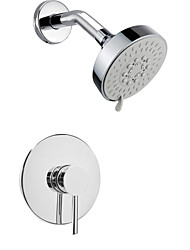 "Wall Mounted Rain Shower Faucet Set 4"" Round Shower Head Bathroom Mixer Taps"