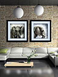 Oil Painting Decoration Abstract Horsehead Hand Painted Canvas with Stretched Framed - Set of 2