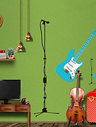 adesivos de parede do estilo adesivos de parede parede adesivos pvc guitarra