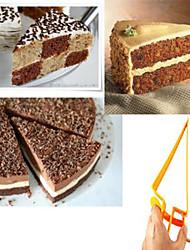 треугольник регулируется сервер пирог ручной резак торт резки (случайный цвет)