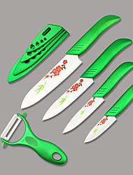 Ensemble de couteaux en céramique - Céramique - L 27.1cm x W 2cm x H 1cm ( L10.67''x W 0.79''x H 0.39'')