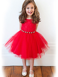 Kid's Dress , Cotton Casual/Cute/Party Bettiey