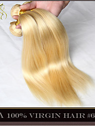 "3Pcs Lot 14""-30"" Platinum Bleach Blonde Peruvian Virgin Hair Straight Color 613 Remy Human Hair Extensions Weave Bundles"