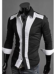 High-Quality Chinese Style Mens Shirts Fashion 2015 Long-Sleeve Shirt 2 Color M-2XL