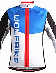WOLFBIKE Men's Sport  Bicycle MTB Long Sleeve Cycling Tops Jacket Sweatshirt Fleece Warm Bike Windproof Back Pocket