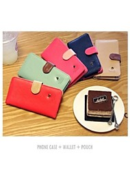 Luxury PU Leather Case For  Mobile Phone Wallet Case With Card Holder Stand