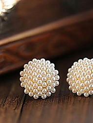 Elegant Mushroom Pearls Earring