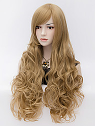 Fashion Blone Natural Wave Lady Wigs Hair Synthetic Hair Wigs