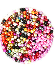 Beadia 58g(Approx 2000Pcs)  4mm Round ABS Pearl Beads Mixed Colors Plastic Beads