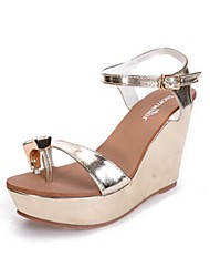 Women's Shoes Platform Platform/Toe Ring Sandals Casual Silver/Gold