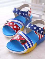 Baby Shoes Outdoor Leather Sandals Blue/Yellow