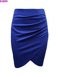 FOREVER LOVE®Women's Solid Color High Waist Pencil Skirt