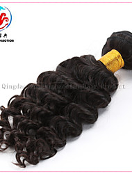 "16""7A LXBD 2015 Hot Sale Natural Colour Deep Wave Remy Hair Malaysian Hair Weave"