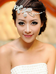 Butterfly Shape Crystal Hair Flower Bride Hair Wedding Headdress Wedding Accessories One Piece