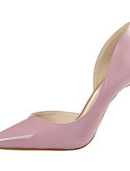 saltos primavera sapatos clube queda verão patente conforto festa de casamento de couro&vestido de noite curta salto agulha