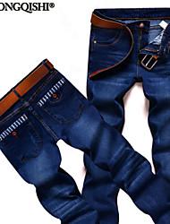 Pantalón De los hombres Casual Un Color - Algodón/Vaquero