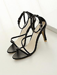 Women's Shoes  Stiletto Heel Heels Sandals Office & Career Black/White