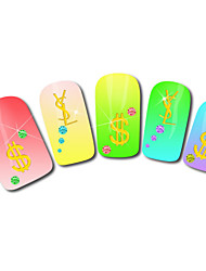 Money Design Hot Stamping Nail Art Stickers