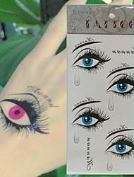 10pc sadness tear beautiful eys Body Art Tattoo Pattern Temporary Tattoos Sticker(10.5cm*20.5cm)
