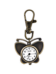Newest Design Retro Style Butterfly Pendant Necklace Pocket Watch Quartz Key Ring Watch  For Men Women Cool Watches Unique Watches