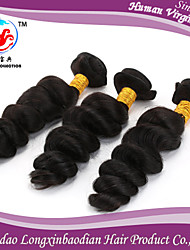 trois faisceaux 5a prix d'usine vague lâche couleur naturelle 100% vierge briazilian trame de cheveux humains