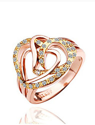 Popular distorted heart-shaped ring