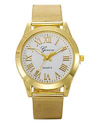 Herren Armbanduhr Quartz Sportuhr Legierung Band Gold Gold Weiß Schwarz
