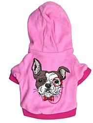 Cat / Dog Coat / Hoodie Blue / Pink Winter Bowknot / Cartoon Cosplay