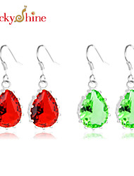 Earring Drop Earrings Jewelry Women / Couples Wedding / Party / Daily / Casual Gem 2pcs Silver