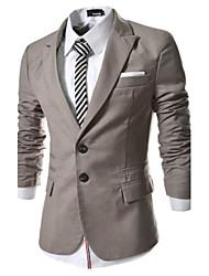 Men's Shirt Collar Suits & Blazers , Cotton Blend Long Sleeve Casual Hollow Out All Seasons HI MAN