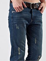 Men's Sweatpants , Casual/Work/Formal/Sport Pure Denim/Elastic
