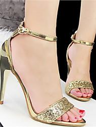 Women's Shoes Leatherette Stiletto Heel Heels/Open Toe Sandals/Pumps/Heels Casual Multi-color