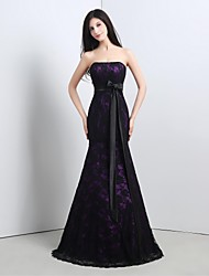 Formal Evening Dress Trumpet / Mermaid Strapless Floor-length Lace