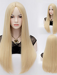 60cm Beauty Fashion Straight U Part Wigs Long Blonde Full Hair Wig Synthetic