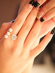 Fashion Blink Diamond Pearl Rings (1pc)