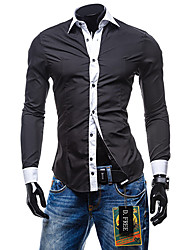 Men's Casual/Work Long Sleeve Regular Shirt