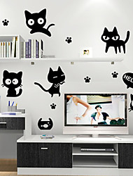 stickers muraux stickers muraux, chats noirs muraux PVC autocollants