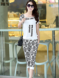 Women's Fashion Sports Suits (T-shirt& Pants)