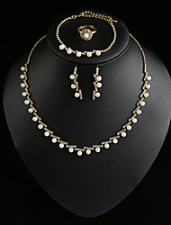 Women Party/Casual Korean Style fashion Alloy/Cubic Zirconia Necklace/Earrings Sets