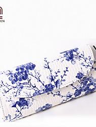 Handcee® Best Seller Woman Flower Pattern PU Clutch Bag