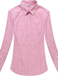 Women's Cotton Long Sleeve Plain Blouse