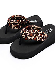 2015summer fashion Korean big size female pinch  slippers anti slidding slope with thick bottom beach sandals Mid heels